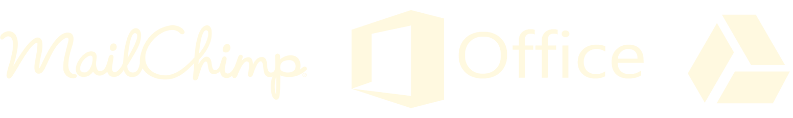 MailChimp, Microsoft Office, Google Drive.